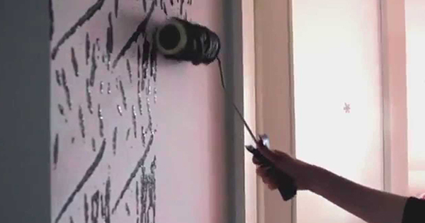 Skvelý trik na originálne vymaľované steny